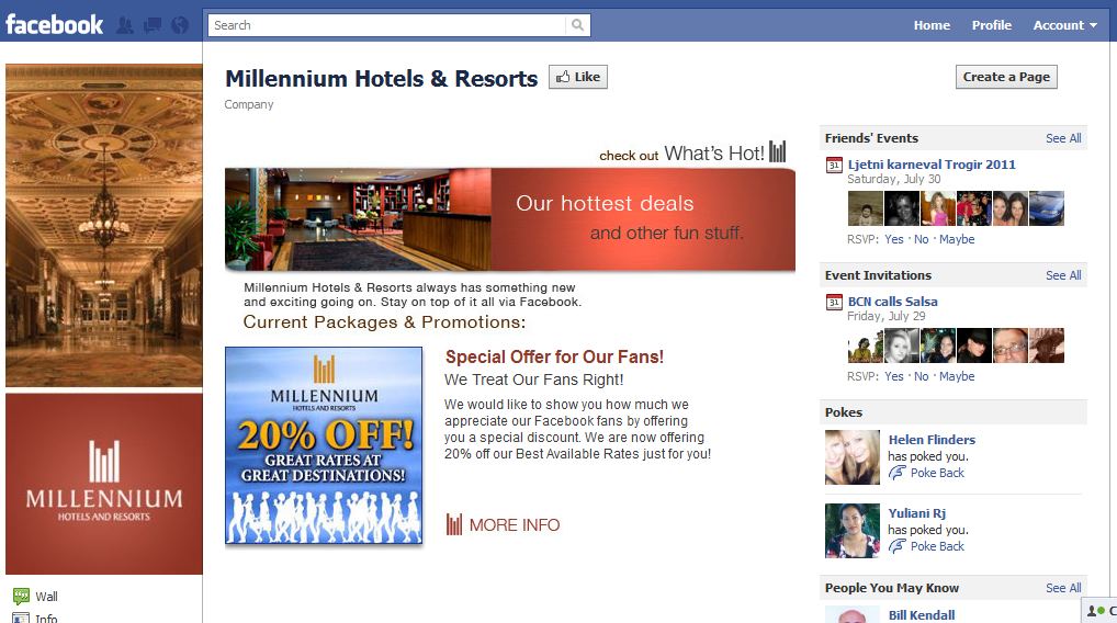 Millennium Hotels on Facebook Hotel Industry increase revenue the smart way. Participate in Social Media!