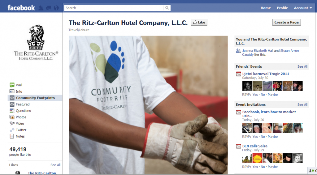The Ritz Carlton Hotel Company on Facebook 1024x566 Hotel Industry increase revenue the smart way. Participate in Social Media!