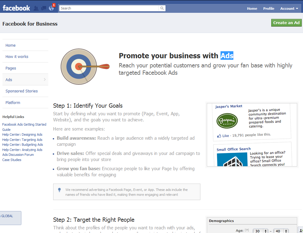 facebook ppc ads Facebooks Online Education Center for Businesses