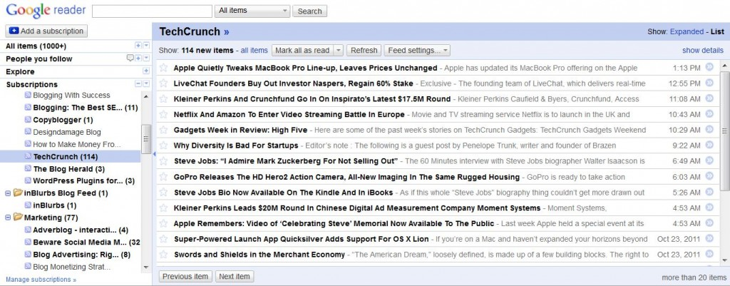 google rss reader 1024x401 Do you want to grow your business, than change your mind set first?